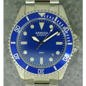 Armida A2 Blue Dial Brushed Case
