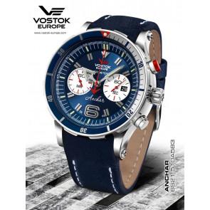 Vostok Europe Anchar Chronograph 510A583 Leatherstrap