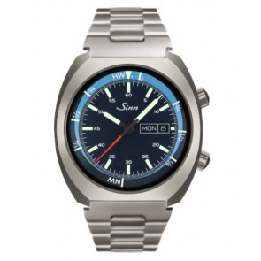 Sinn Art-Nr. 240.011 Sporty Watch With Inner Pilot Bezel Steelbracelet