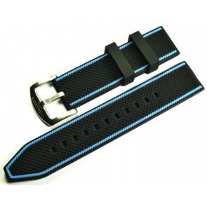 MARC & SONS Rubber strap black blue