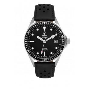 Yema Superman Automatic Swell YMHF1556A-AM Black Leatherstrap