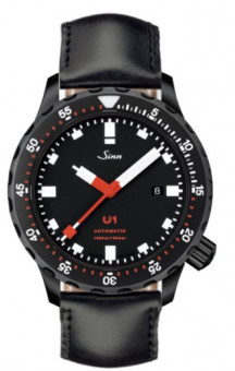 Sinn Art-Nr. 1010.020 Diver U1S PVD Coated Leatherstrap