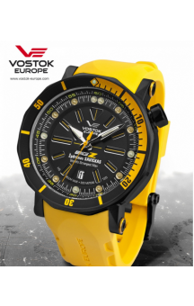 Vostok Europe Big Z Black Edition NH35A-6204344 Yellow Strap