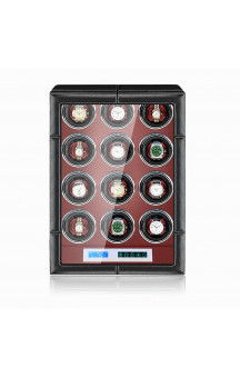 Maubuchi Touchscreen Leather 12 positions Watch Winder For 12 Ure