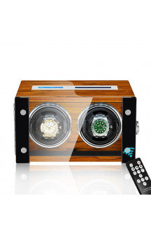 Maubuchi Touchscreen Wood 2 positions Watch Winder For 2 Ure