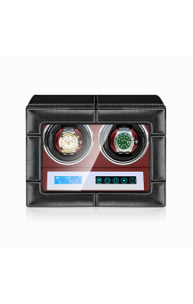 Maubuchi Touchscreen Leather 2 positions Watch Winder For 2 Ure