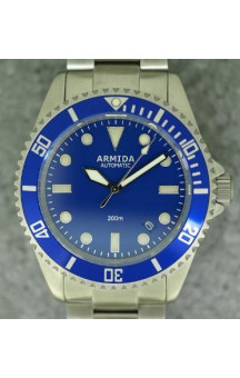 Armida A2 Blue Dial Brushed Case