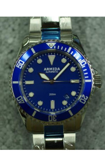 Armida A2 blue dial polished case