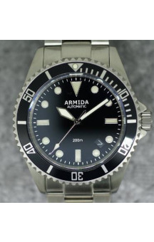 Armida A2 Black Dial Brushed Case