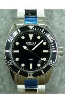 Armida A2 black dial polished case