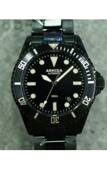 Armida A2 black dial PVD Coated