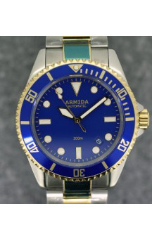 Armida A2 blue dial two tone
