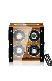 Maubuchi Touchscreen Wood 4 positions Watch Winder For 4 Ure