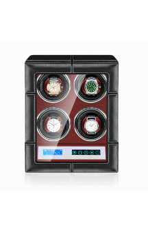 Maubuchi Touchscreen Leather 4 positions Watch Winder For 4 Ure