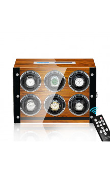 Maubuchi Touchscreen Wood 6 positions Watch Winder For 6 Ure