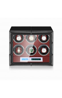 Maubuchi Touchscreen Leather 6 positions Watch Winder For 6 Ure
