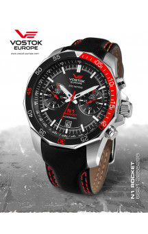Vostok Europe Rocket N1 Chrono Quartz 2255295 Leatherband