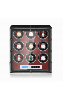 Maubuchi Touchscreen Leather 9 positions Watch Winder For 9 Ure