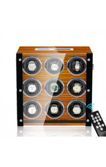 Maubuchi Touchscreen Wood 9 positions Watch Winder For 9 Ure