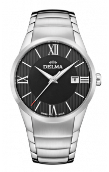 Delma Tartagona Black Dial Steel