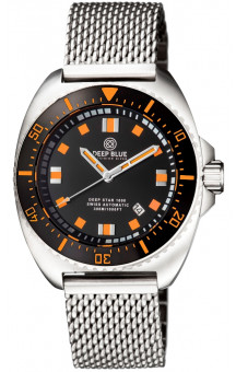 Deep Star 1000 Swiss Automatic Steel– Diver Black/White