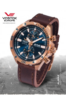 Vostok-Europe Almaz 320B262 Leather Strap