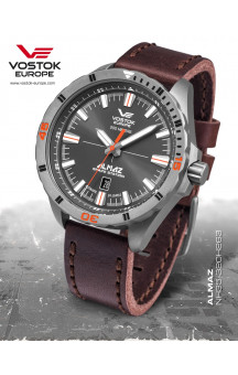 Vostok-Europe Almaz 320H263 Leather-Strap