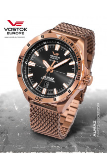 Vostok-Europe Almaz 320B259 Rosagold Steel-Bracelet