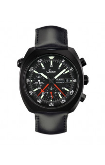 Sinn Art-Nr. 140.030 PVD Coated Space chronograph Leatherstrap