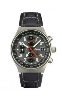 Sinn Art-Nr. 144.068 World Time Chronograph Leatherstrap