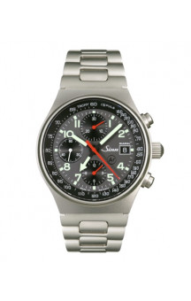 Sinn Art-Nr. 144.068 World Time Chronograph Steelbracelet