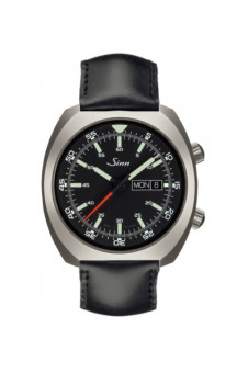 Sinn Art-Nr. 240.010 Sporty Watch With Inner Pilot Bezel Leatherstrap