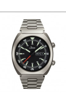 Sinn Art-Nr. 240.010 Sporty Watch With Inner Pilot Bezel Steelbracelet
