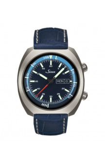 Sinn Art-Nr. 240.011 Sporty Watch With Inner Pilot Bezel  Leatherstrap