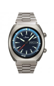 Sinn Art-Nr. 240.011 Sporty Watch With Inner Pilot Bezel Steelbracelet