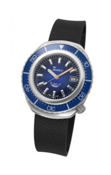 Squale 2002 101 Black Rubberband Blueface