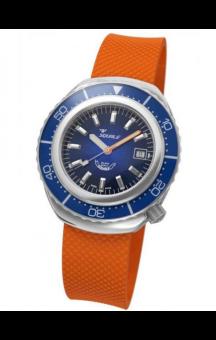 Squale 2002 101 Orange Rubberband Blueface