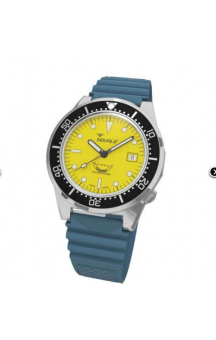 Squale 1521-026 Blue Rubberband Yellow Face