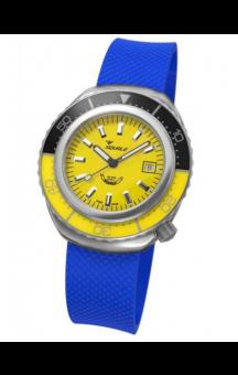 Squale 2002 101 Blue Rubberband Yellowface