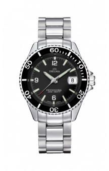 Delma Santiago Quatz Steel Black 37 mm