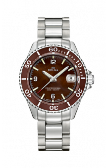 Delma Santiago Quatz Steel Brown 37 mm