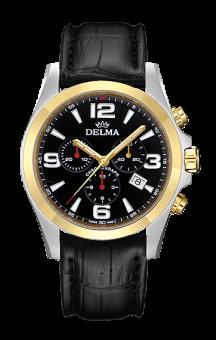 Delma Modena T.T. Black Leatherstrap