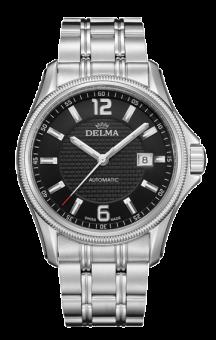 Delma Automatic San Marino Steel Bracelet Black Dial