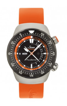 Sinn Art-Nr. 112.010 Medical Doctor Pilot Watch EZM 12 Orange Siliconestrap