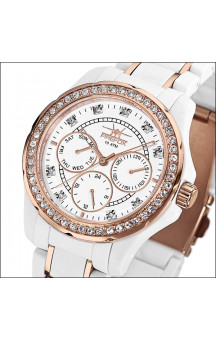 FIREFOX zirkonia rosa guld multi-funktion watch
