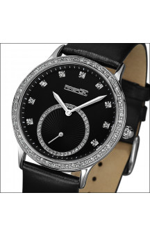 FIREFOX Stainless Steel Ladies Watch zirkonia FFSL1005-102 black