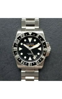 Helson GMT Shark Diver 38 Black