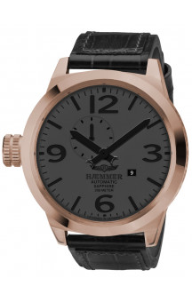 Haemer Mens Watch Automatisk Golden 1