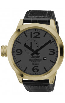 Haemmer Mens Watch Automatisk Golden 2