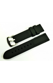 MARC & SONS Rubber strap, color black
